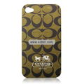 High Quality Coach Pattern Color Back Case for Apple iPhone 4th / 4G - 6