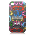 High Quality Coach Pattern Color Back Case for Apple iPhone 4th / 4G - 8