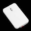 Super Slim 800-1200 DPI 3D USB Optical Mouse 15mm 3-Button White