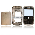 Transparent Compatible Front And Back Housing With Keypad For Blackberry 8520 Mobile Phone - Gray