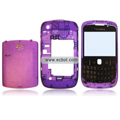 Transparent Compatible Front And Back Housing With Keypad For Blackberry 8520 Mobile Phone - Purple