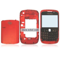 Transparent Compatible Front And Back Housing With Keypad For Blackberry 8520 Mobile Phone - Red