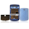 Transparent Compatible Front And Back Housing With Keypad Fullset For Blackberry 9700 Mobile Phone - Blue