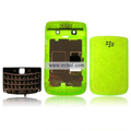 Transparent Compatible Front And Back Housing With Keypad Fullset For Blackberry 9700 Mobile Phone - Green