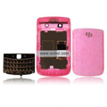 Transparent Compatible Front And Back Housing With Keypad Fullset For Blackberry 9700 Mobile Phone - Pink