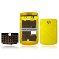 Transparent Compatible Front And Back Housing With Keypad Fullset For Blackberry 9700 Mobile Phone - Yellow