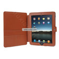 Protective Leather Case with Stand Mount Holder for Apple iPad - Brown