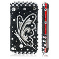 Clear Butterfly Crystal Bling Back Case For LG KP500