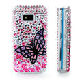 100% Brand New Black Butterfly 3D Crystal Bling Hard Plastic Case For Nokia 5530