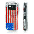100% Brand New USA American Flag Crystal Bling Hard Plastic Case For Nokia Mini N97
