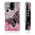 100% Brand New Black Butterfly Crystal Bling Hard Plastic Case For Sony Ericsson W995