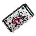 100% Brand New Butterfly Crystal Bling Rhinestone Diamond Case Skin Cover For iPhone 4 4G
