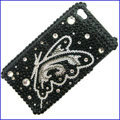 100% Brand New Clear Butterfly Crystal Bling Rhinestone Diamond Case Skin Cover For iPhone 4 4G