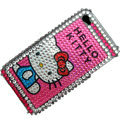 Hello Kitty Crystal Bling Rhinestone Diamond Case Skin Cover For iPhone 4 4G