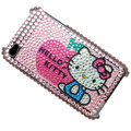Pink Hello Kitty Crystal Bling Rhinestone Diamond Case Skin Cover For iPhone 4 4G