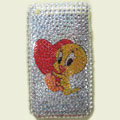 100% Brand New Crystal Cartoon Rhinestone Bling Plastic Case For Apple iphone 3G 3Gs