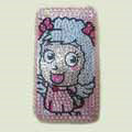 100% Brand New Crystal Sheep Rhinestone Bling Plastic Case For Apple iphone 3G 3Gs