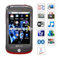 H5 Quad Band Dual Cards Camera WiFi Color TV Dual Bluetooth Java 3.2 - inch Touch Screen China Phone - Red