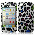 High Quality Leopard Print Protection Front & Back Case for Apple iPhone 4th / 4G