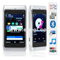 N8 Quad Band Dual Cards Dual Cameras Bluetooth 3.2 Inch Touch Screen China Phone-Silver