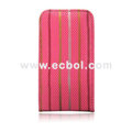 Flip Open Leather Case for Apple iPhone 4th / 4G - Pink