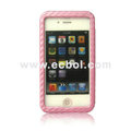 Sleeping Mat Texture Leather Back Case for Apple iPhone 4th / 4G - Pink