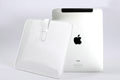 iPad Leather interior pack iPad computer bag DIP White