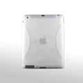iPad 2 / The New iPad case Crescent Silicone Case Seismic drop resistance - Transparent White