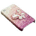 Swarovski crystal bling Flowers case for iphone 4 - pink