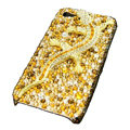 Bling Swarovski Crystal Gecko Case for iphone 4 - yellow