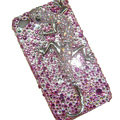Bling Swarovski Crystal Lizard Case for iphone 4 - pink