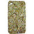 Bling Swarovski Crystal Lizard Case for iphone 4 - yellow