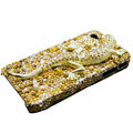Swarovski Crystal bling Gecko Case for iphone 4 - yellow