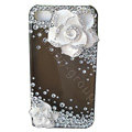 Camellia bling crystal case for iphone 3gs