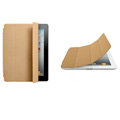 Miraculous magnetic wake smart cover for iPad 2 / The New iPad - Brown