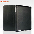 Miraculous magnetic wake smart cover for iPad 2 / The New iPad - PU black