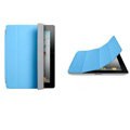 Miraculous magnetic wake smart cover for iPad 2 / The New iPad - blue