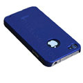 Brand new Ultra-thin scrub case for iphone 4 - blue