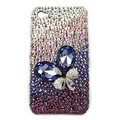 Brand New Bowknot Swarovski bling crystal case for iphone 4G - purple
