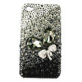 Brand New Bowknot Swarovski bling crystal case for iphone 4G - black