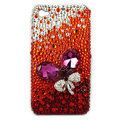 Brand New Bowknot Swarovski bling crystal case for iphone 4G - red