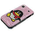 Brand New Penguin bling crystal case for Samsung i9000