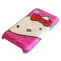 Brand New kitty bling crystal case for Samsung i9000 - rose