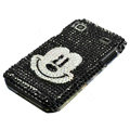 Mickey Rhinestone Diamond Crystal case for Samsung i9000 - black