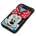 Mickey Rhinestone Diamond Crystal case for Samsung i9000 - blue