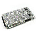Rhinestone Crystal case for Samsung i9000 - white