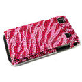 Zebra bling crystal for Samsung i9000 case - red