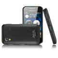IMAK Ultra-thin Scrub color covers for Samsung S5830 - black