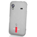 Capdase Silicone Case For Samsung S5830 - Transparent White