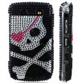 Skulls Bling crystal case for Blackberry 8900 - black